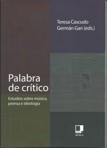Capa do livro coletivo Palabra de crítico