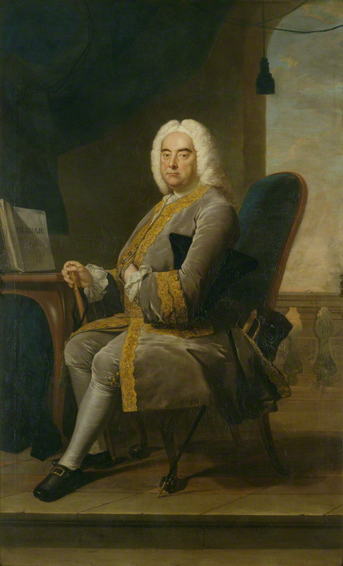Retrato de Haendel por Thomas Hudson, 1756 - National Portrait Gallery
