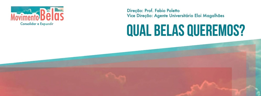 Cartaz da chapa Movimento Belas