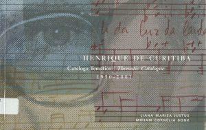 Capa do catálogo de obras de Henrique Morozowicz (exemplar da biblioteca da FAP)