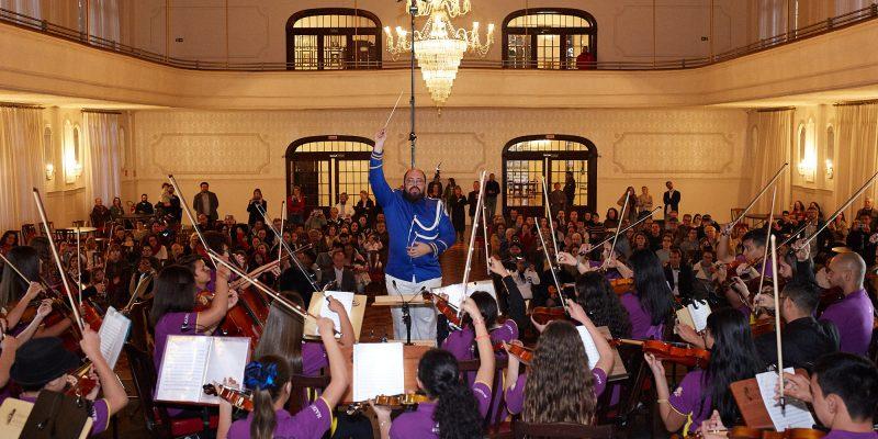 estreia da Orquestra Infantil Alegro