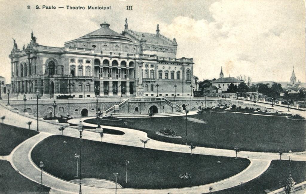 O Municipal de São Paulo, em vista do início do século XX (foto do sítio do Teatro)